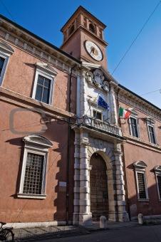 Ariostea Library. Ferrara. Emilia-Romagna. Italy.