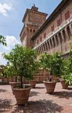 Garden of the Oranges. Estense Castle. Emilia-Romagna. Italy.