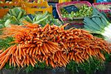 Carrots in a market