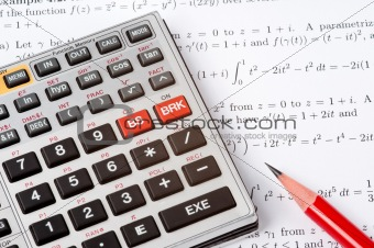 Scientific Calculator Next to Maths