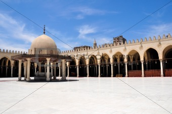 Amr ibn al-As Mosque in Cairo, Egypt