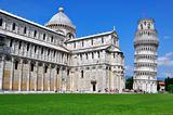 PISA, ITALY-JUNE 7: The leaning tower of Pisa on Piazza del Duomo in Pisa, Italy on June 7, 2010. It's the 3rd oldest structure in the Cathedral Square after the Cathedral and the Baptistry.