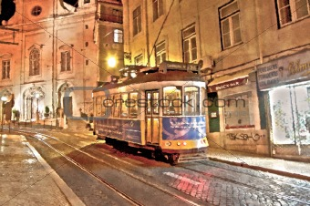 lisbon tram 28 painting