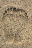 Foot prints on the sand