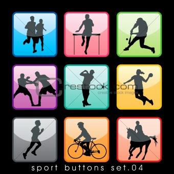 Sport buttons set