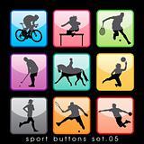 Sport buttons set 02