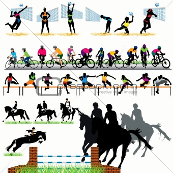 Sport silhouettes set 04