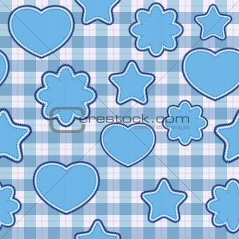 Blue application - seamless pattern