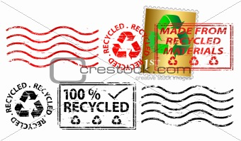 Recycling letter franking mark