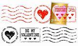 Valentine letter franking mark