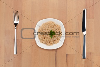 Rice with sesame and coconut