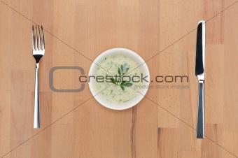 Chutney with parsley leaf