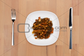 Braised beans with carrots