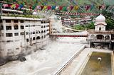 Temple with thermal spring, Manikaran, India