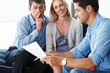 Expert advice - Young couple with financial advisor