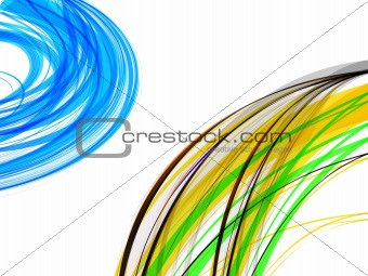 abstract  multi color wave backgorund vector illustration