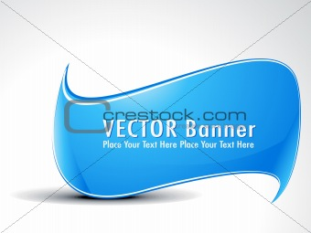 abstract cyan banner