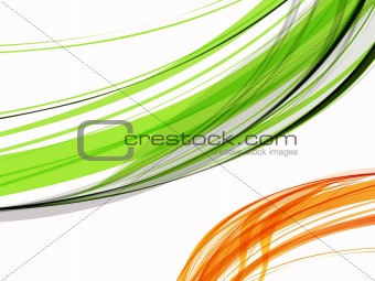 abstract green & orange wave