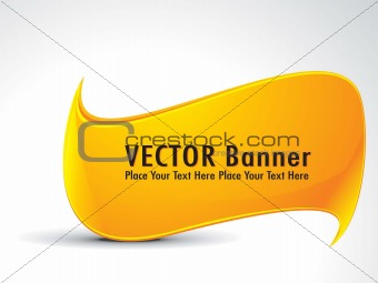 abstract onrange banner