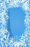 Winter France background vector