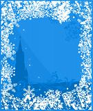 Winter Russia background vector