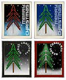 Stamps merry christmas