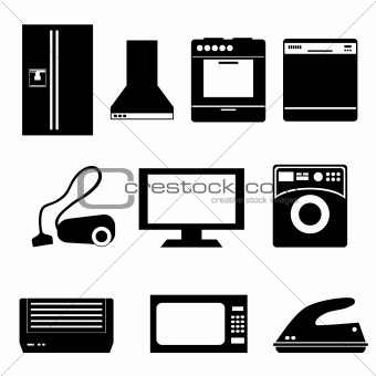Household appliances isolated on white keywords household appliance