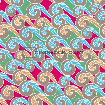 wave seamless pattern background