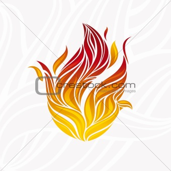 artistic fire flame