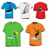 Windsurfers T-shirts Set