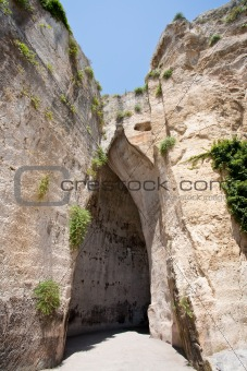 cave Ear of Dionysius in Syracuse, Italy