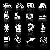 Vacation &amp; Recreation, Travel. icons set