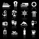 Vacation &amp; Travel, Recreation. icons set