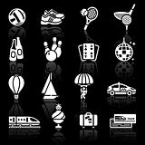 Vacation, Recreation &amp; Travel. icons set