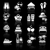 Vacation, Travel &amp; Recreation. icons set