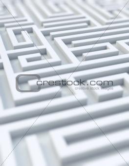White maze - selective focus
