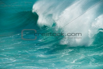 Turquoise ocean wave