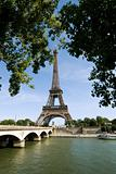 Eiffel Tower at river seine
