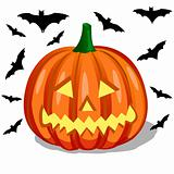 pumpkin and bats