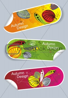 Autumn stickers