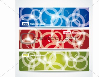 abstract colorful header set vector design