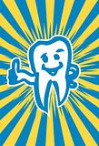 happy dent poster card Intact, healthy molar tooth
