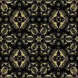 Seamless black and gold pattern
