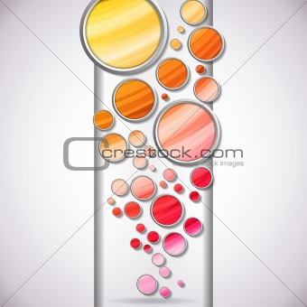 Abstract Colorful Circles Background