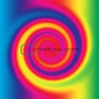 abstract rainbow twirl