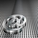 3D Metallic At Symbol