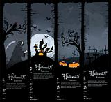 Vector Halloween banners