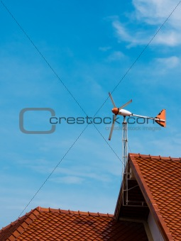 Aircraft that the wind direction on red roof