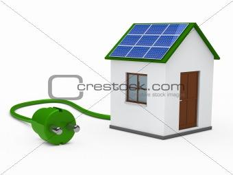 3d solar house with plug