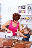 Making cake together